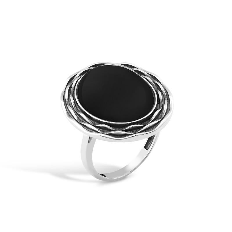 Кольцо с ониксом 434