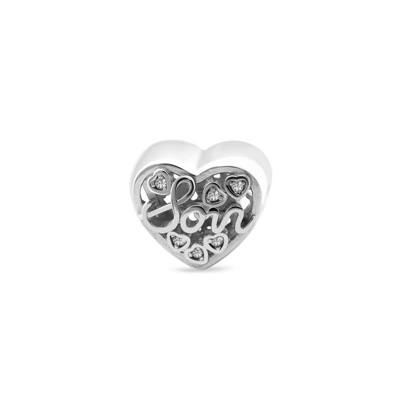 Серебряная подвеска Сердце 1040