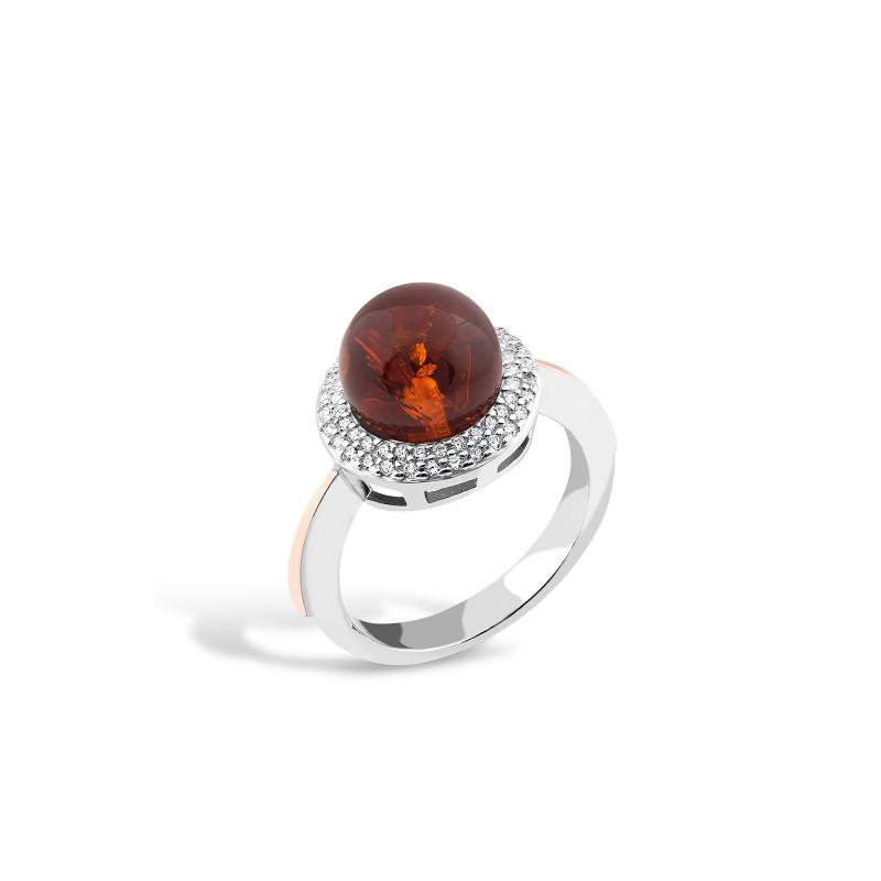 Кольцо с янтарем 540