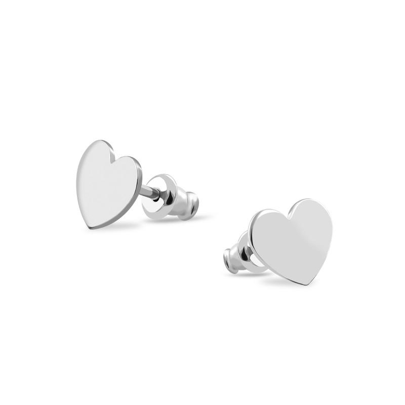 Серебряные серьги Сердце 573