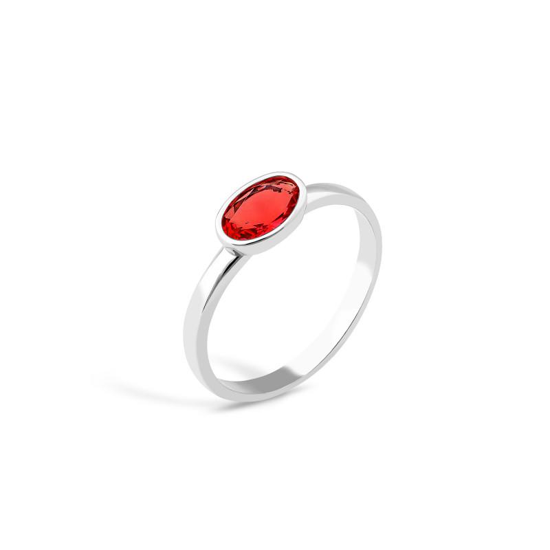 Кольцо с красным фианитом 833-5