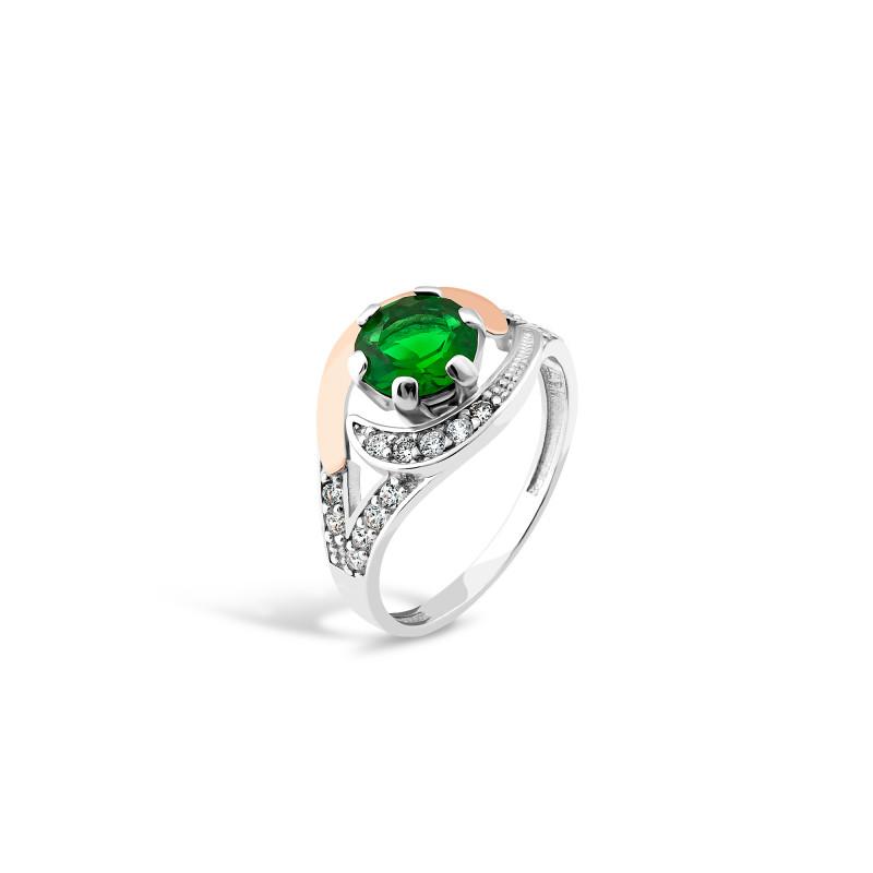 Кольцо с темно-зеленым альпинитом 199