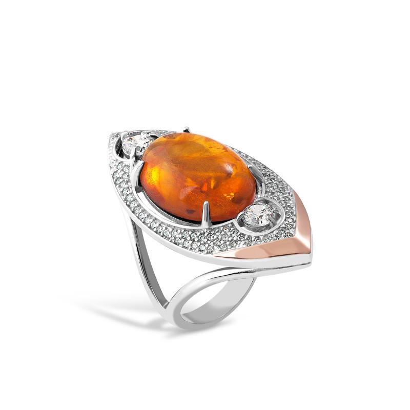 Кольцо с янтарем 628
