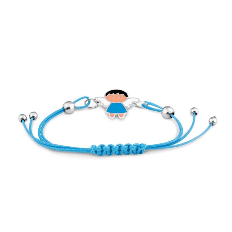 Браслет с голубым шнуром 678