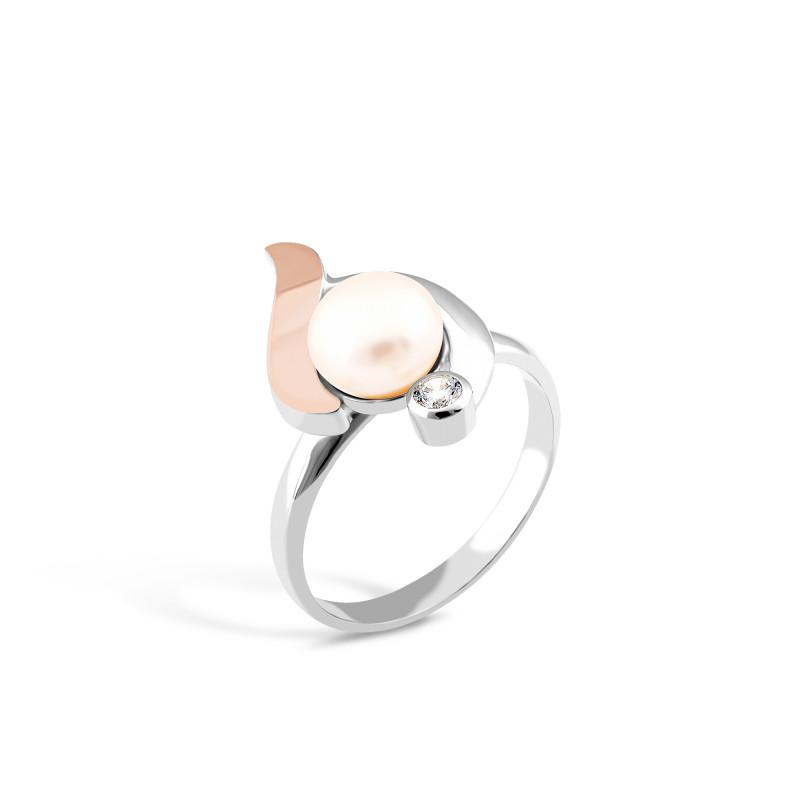 Кольцо с жемчугом 019