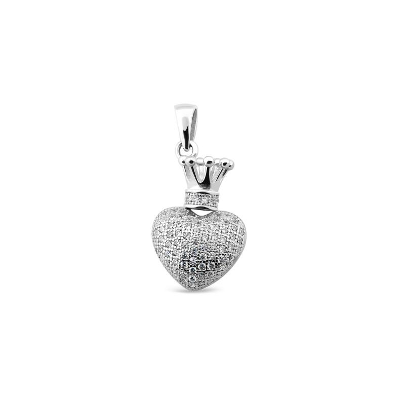 Серебряная подвеска Сердце 955