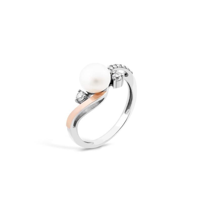 Кольцо с жемчугом 784