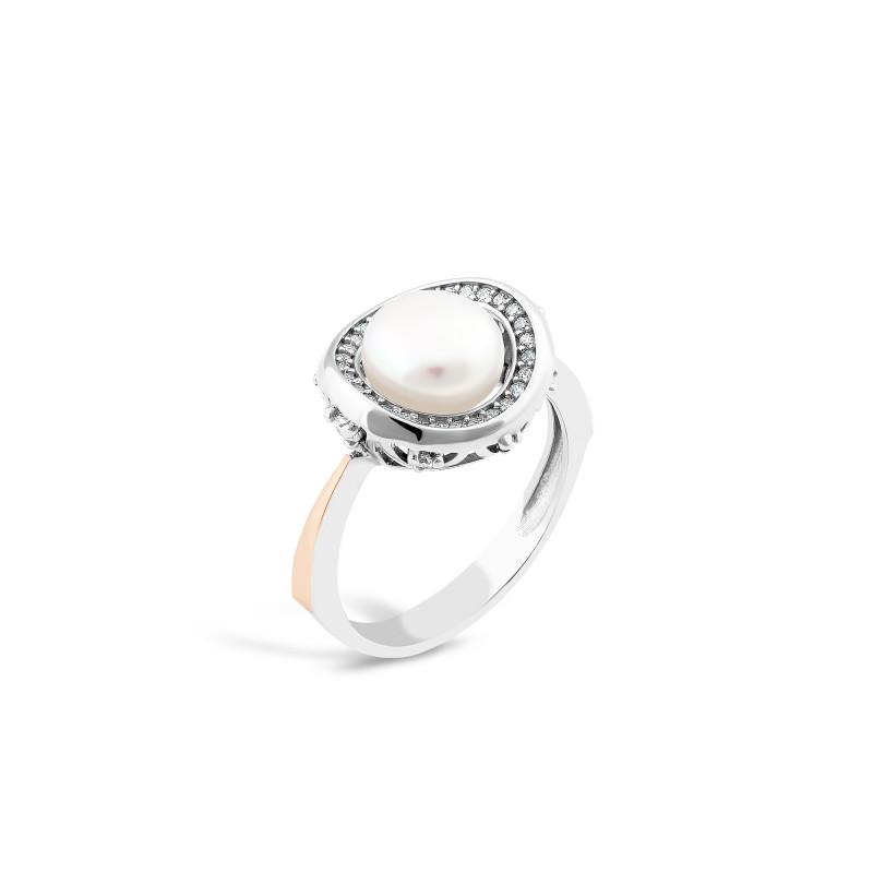 Кольцо с жемчугом 786