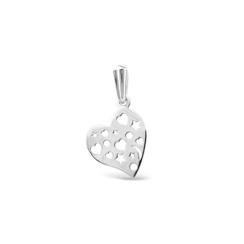 Серебряная подвеска Сердце 073