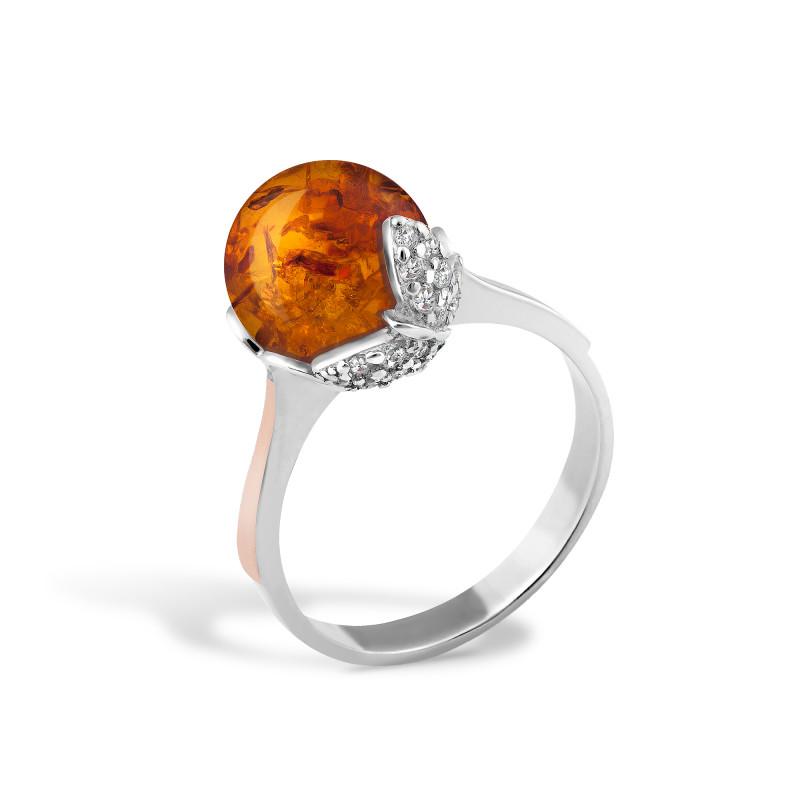 Кольцо с янтарем 463