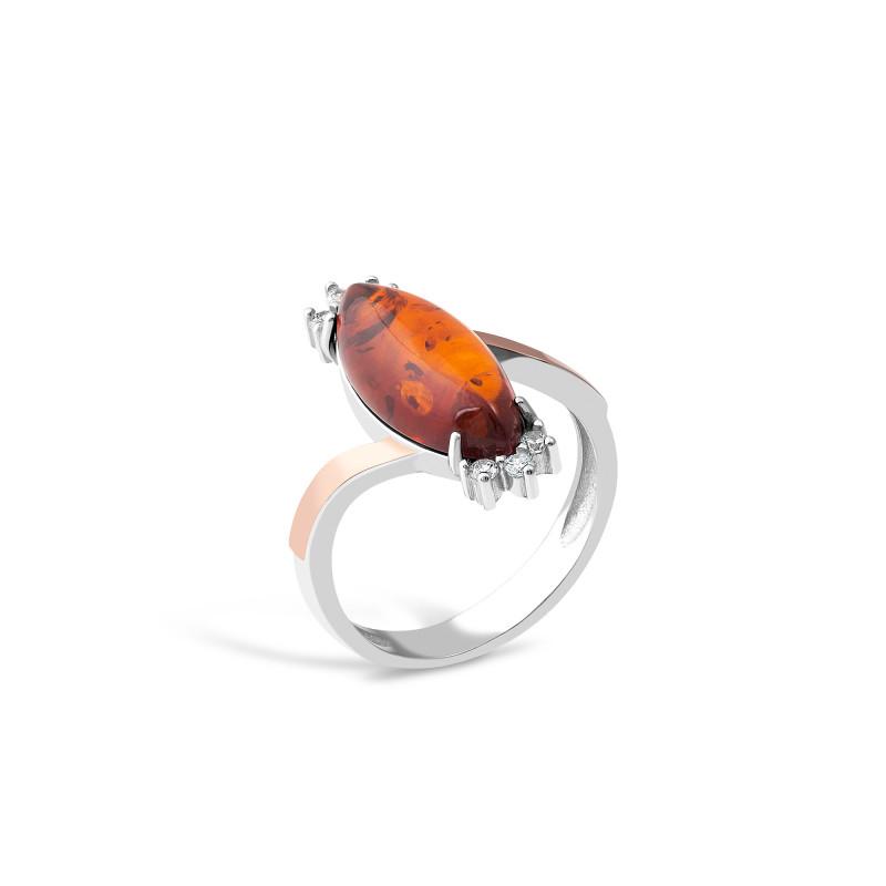 Кольцо с янтарем 629