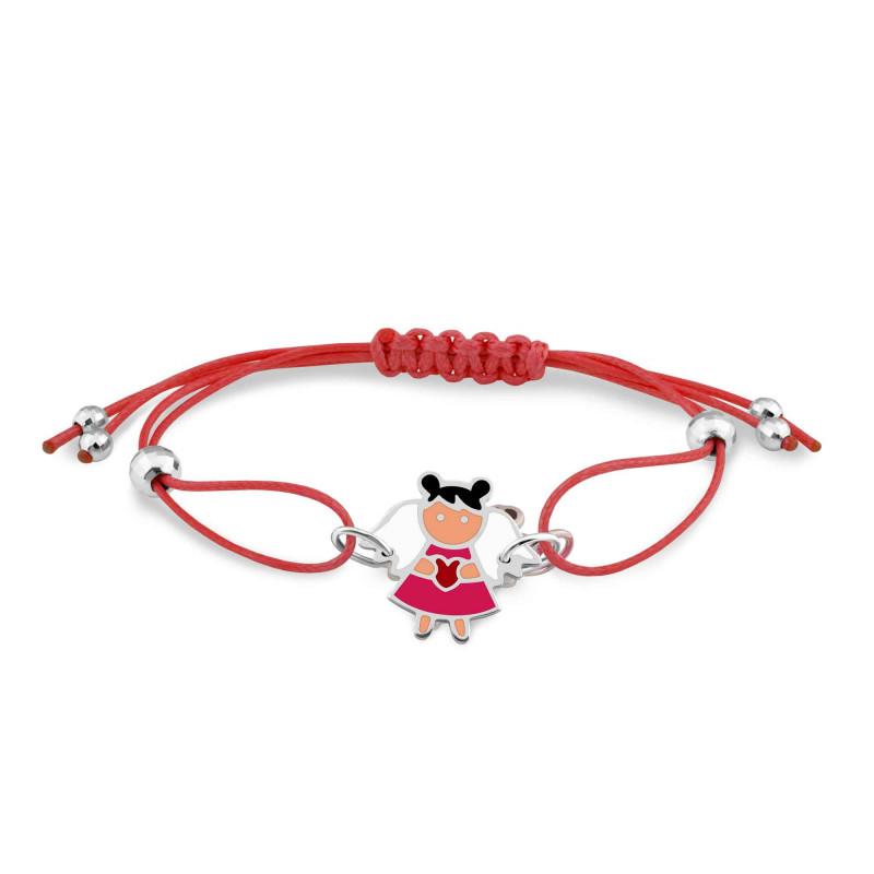 Браслет с красным шнуром 565
