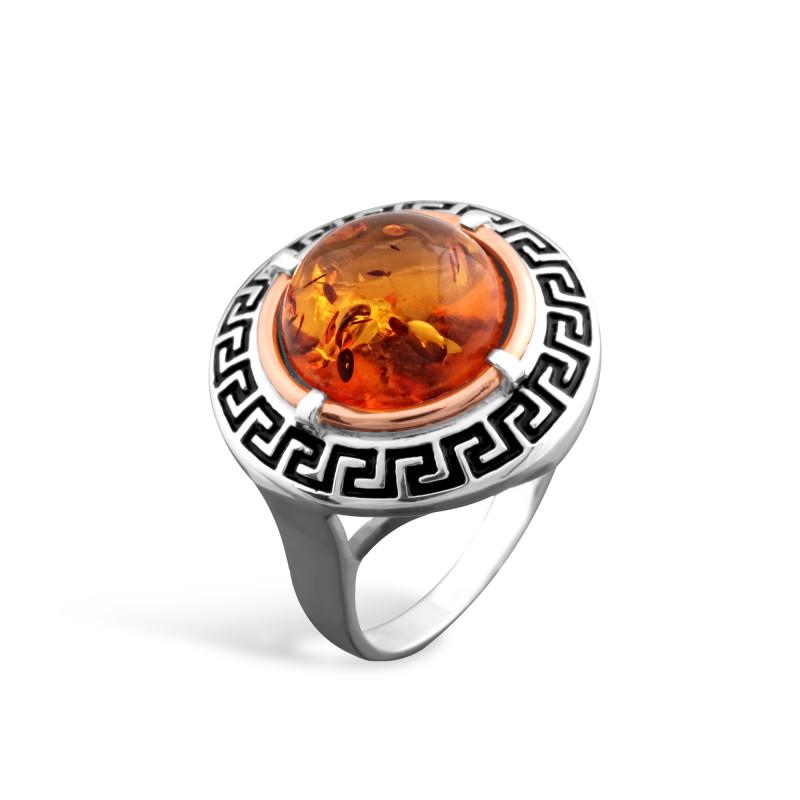 Кольцо с янтарем 257