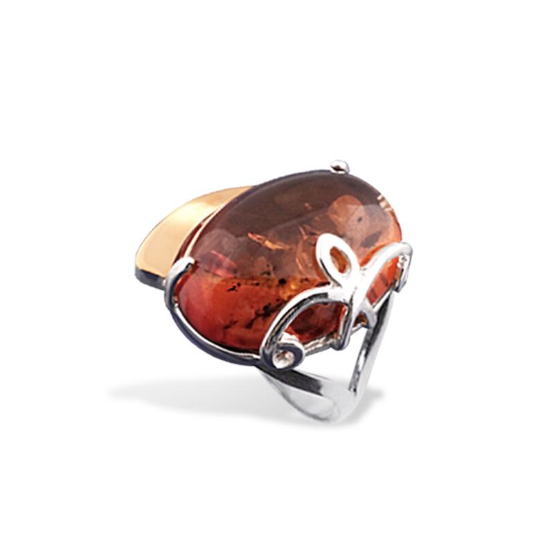 Кольцо с янтарем 122