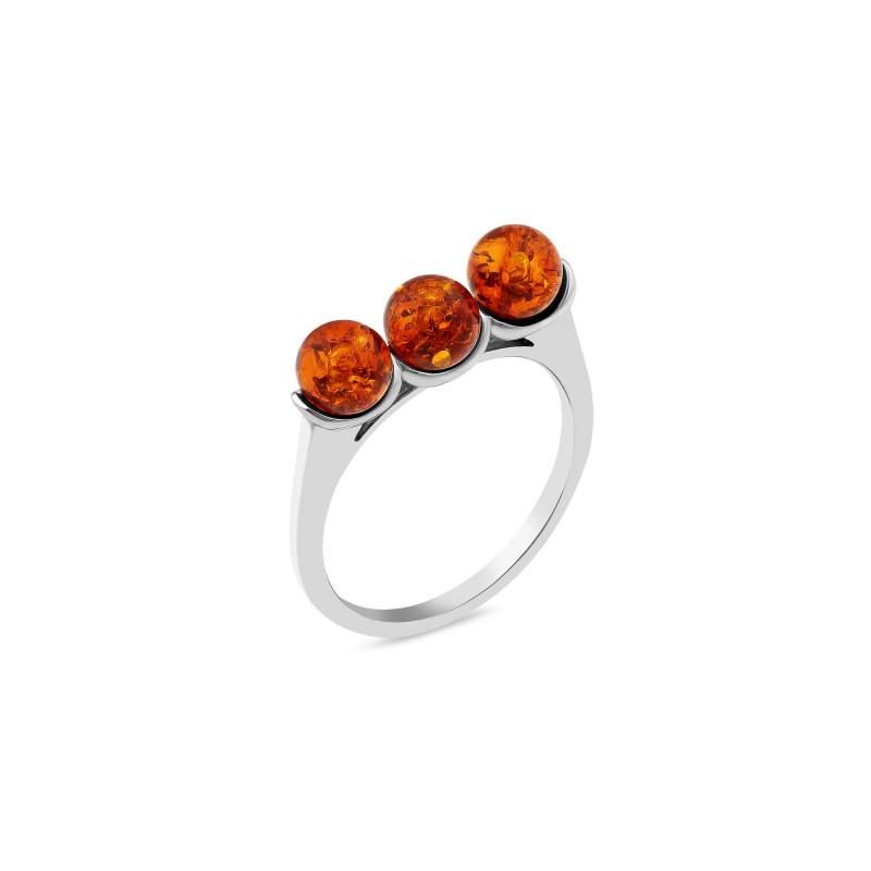 Кольцо с янтарем 1108