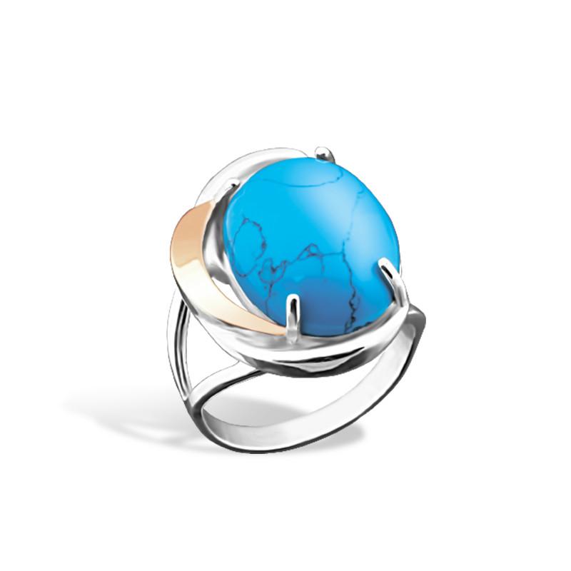 Кольцо с бирюзой 066