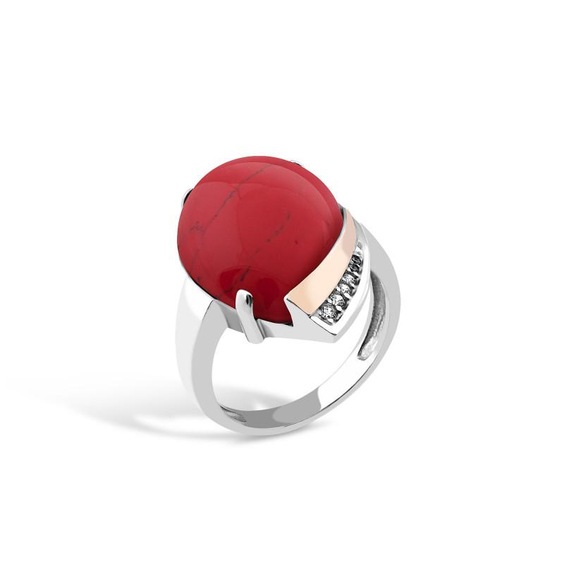 Кольцо с яшмой 526