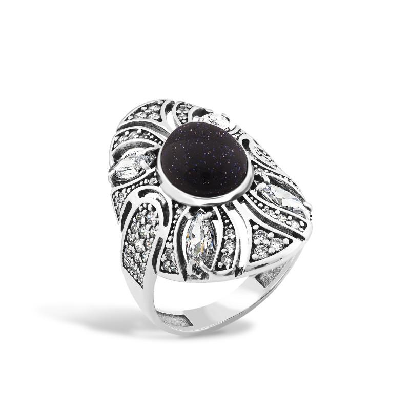 Кольцо с авантюрином 446