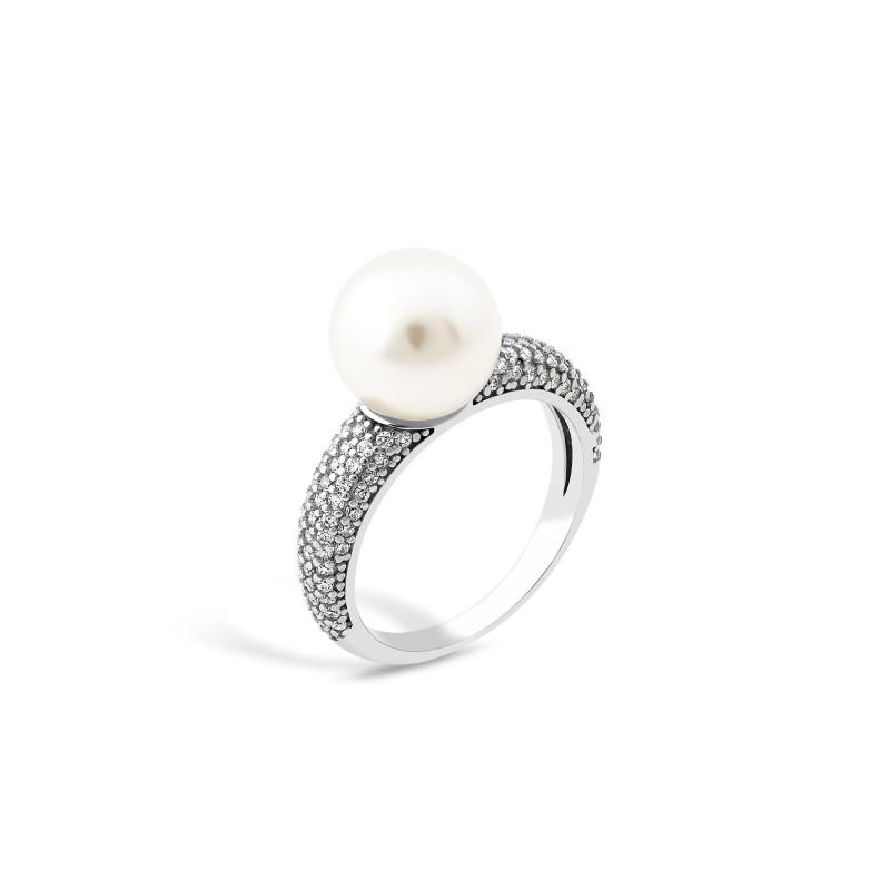 Кольцо с жемчугом 812