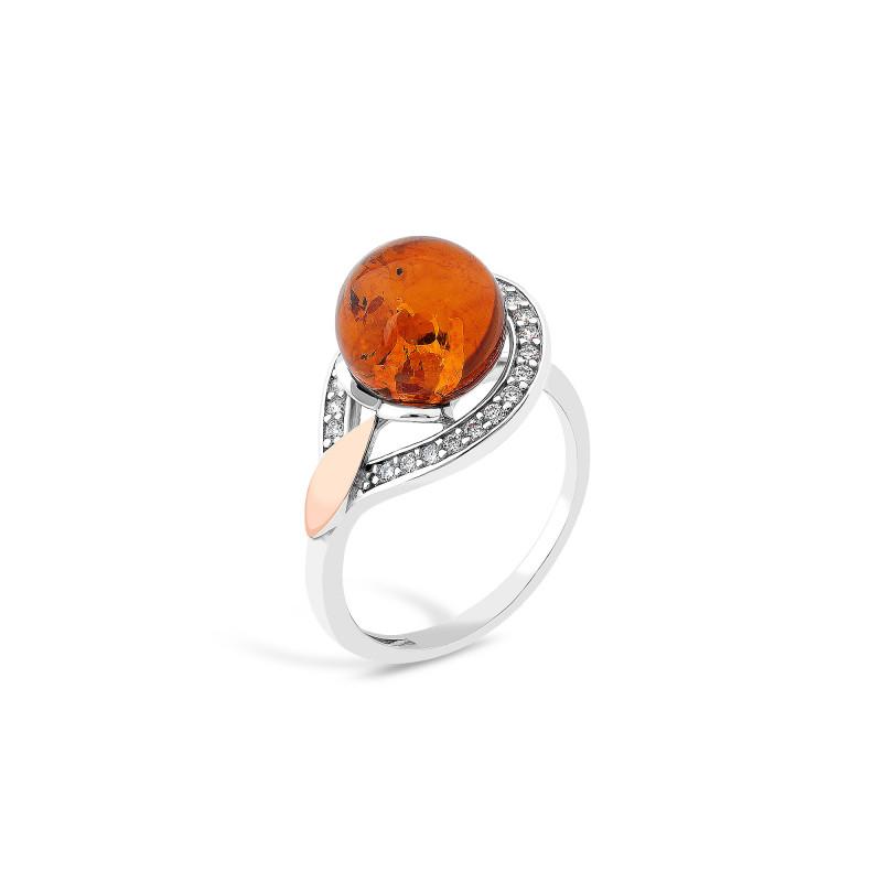Кольцо с янтарем 660