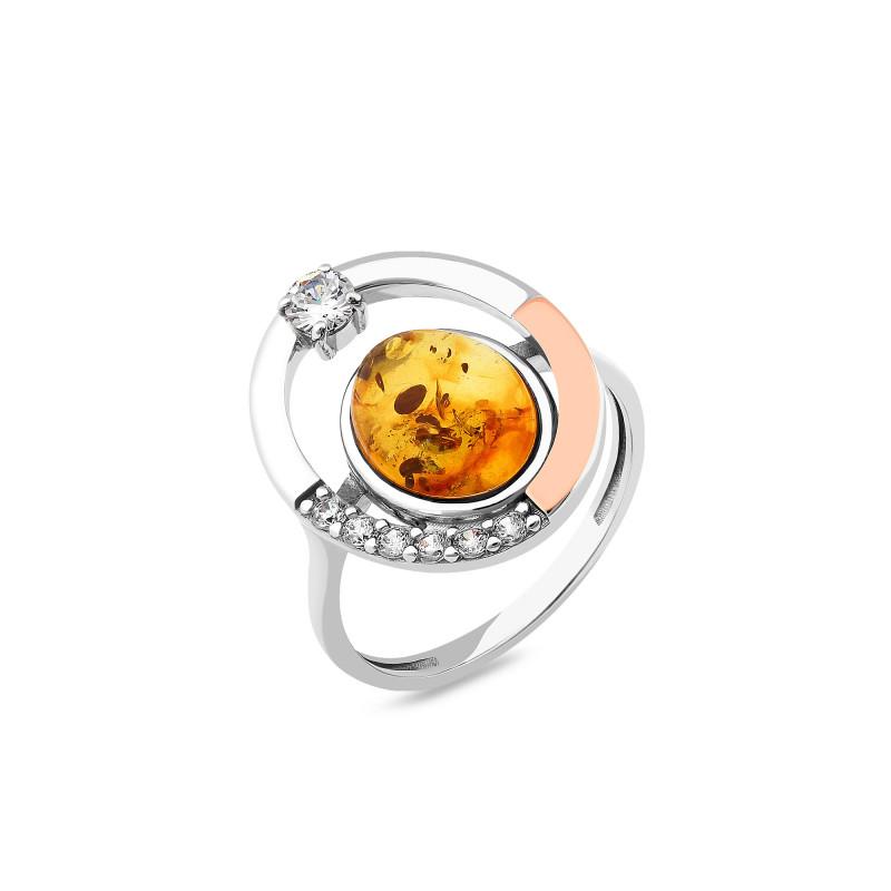 Кольцо с янтарем 969