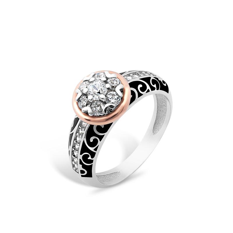 Кольцо с эмалью 422