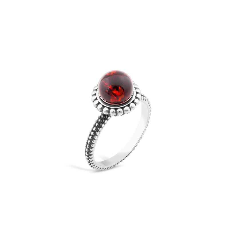 Кольцо с янтарем 512