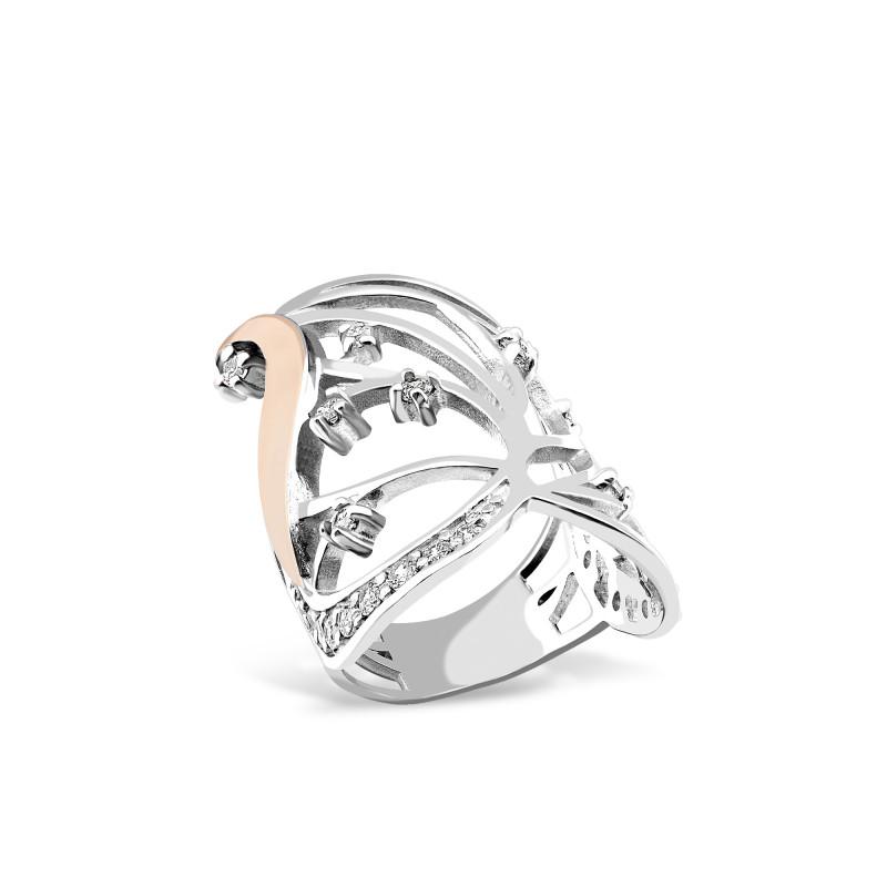 Серебряное кольцо 055