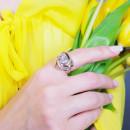 Кольцо с белым фианитом 705 2