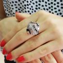 Кольцо с эмалью 425 2