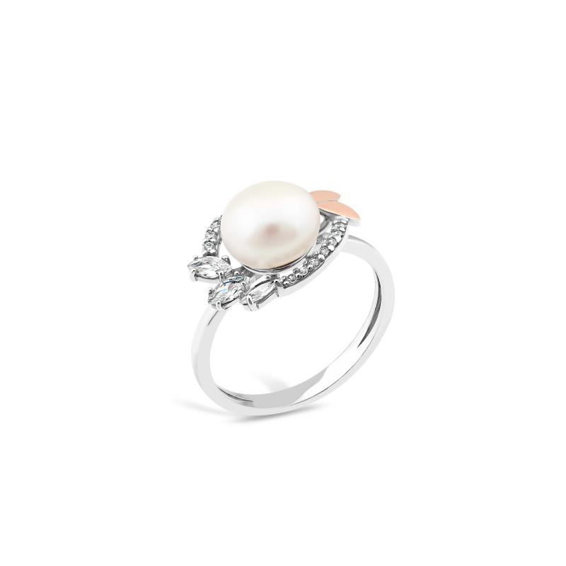Кольцо с жемчугом 782