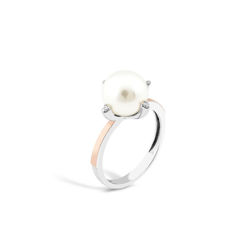 Кольцо с жемчугом 783