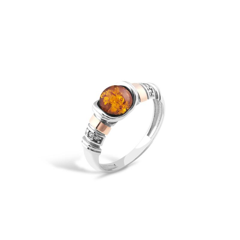 Кольцо с янтарем 214