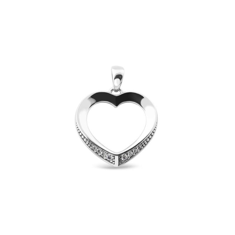 Серебряная подвеска Сердце 863