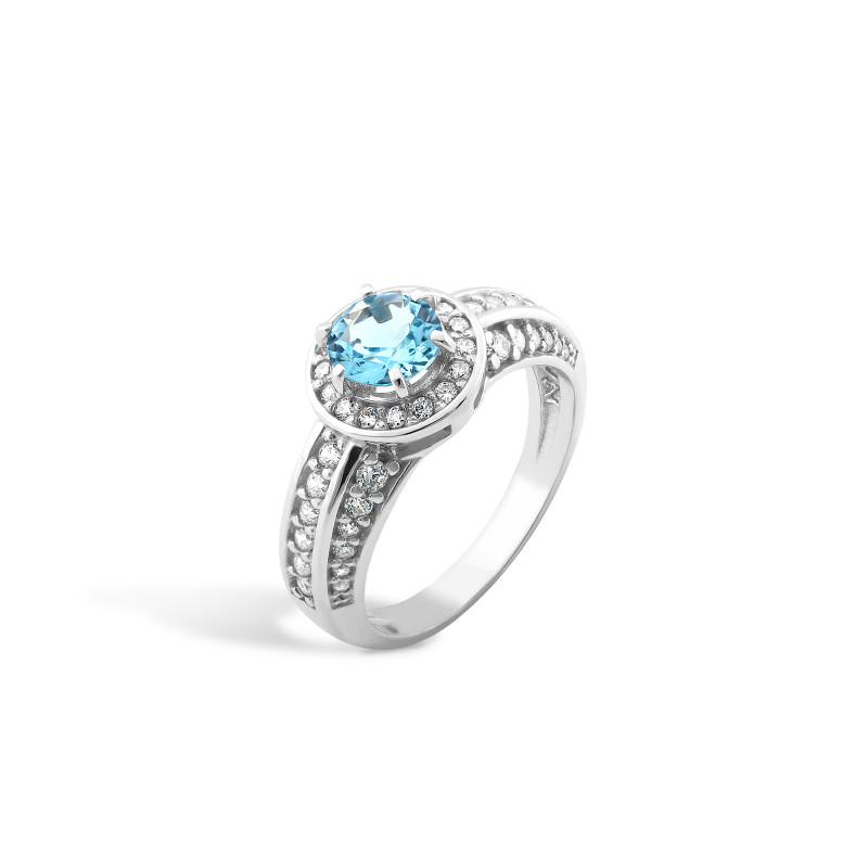 Кольцо с голубым альпинитом 430