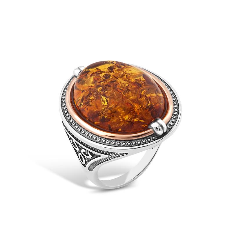 Кольцо с янтарем 407
