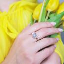 Кольцо с белым фианитом 839 2