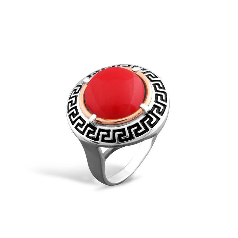 Кольцо с кораллом 257