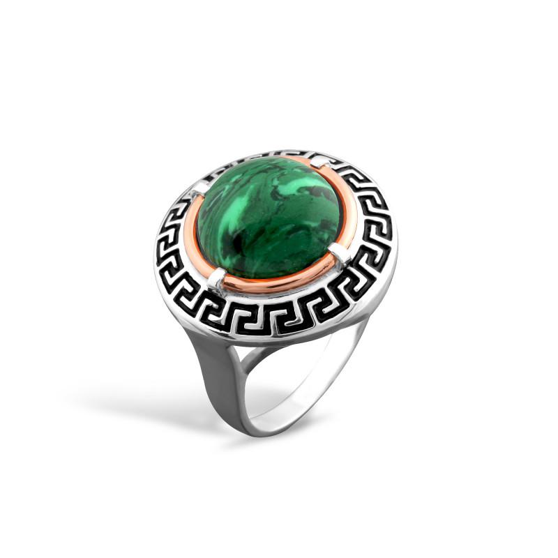 Кольцо с малахитом 257