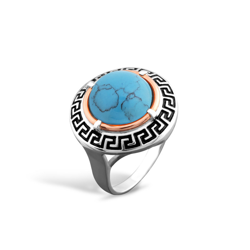 Кольцо с бирюзой 257