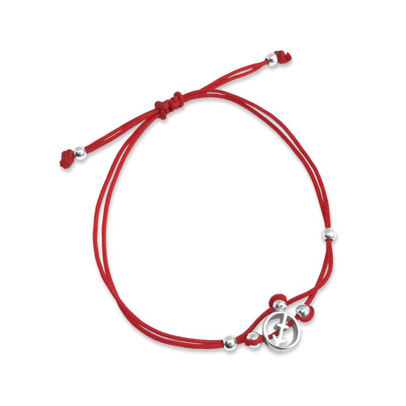 Браслет с красным шнуром 773