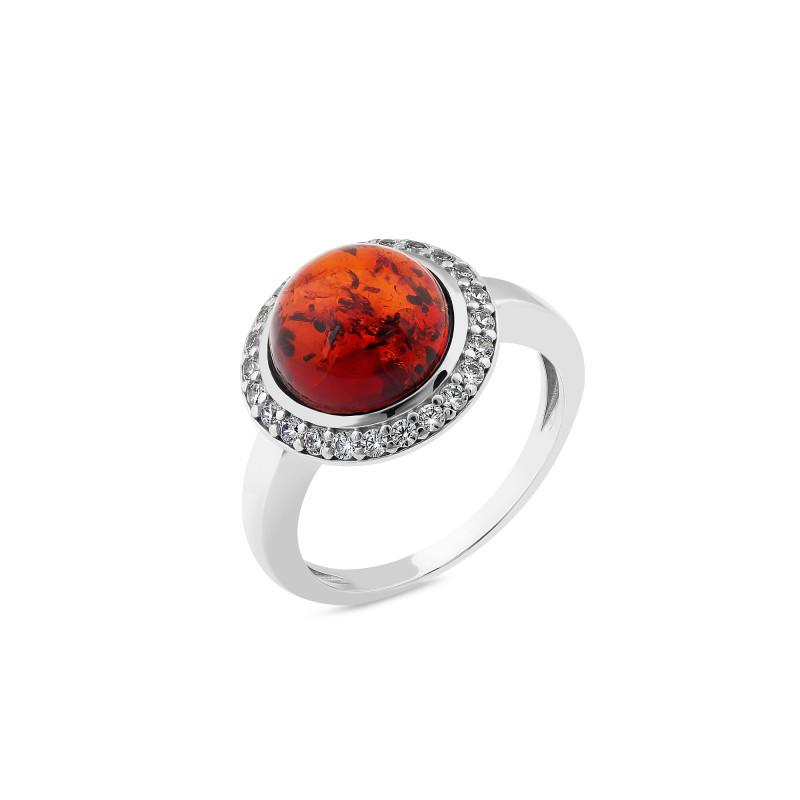 Кольцо с янтарем 870