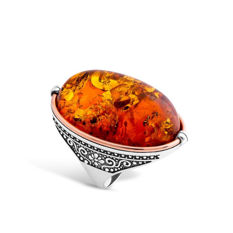 Кольцо с янтарем 409