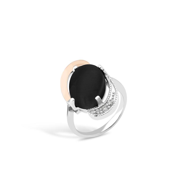 Кольцо с ониксом 024