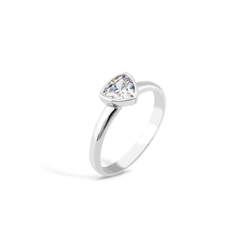 Кольцо с белым фианитом 833-3