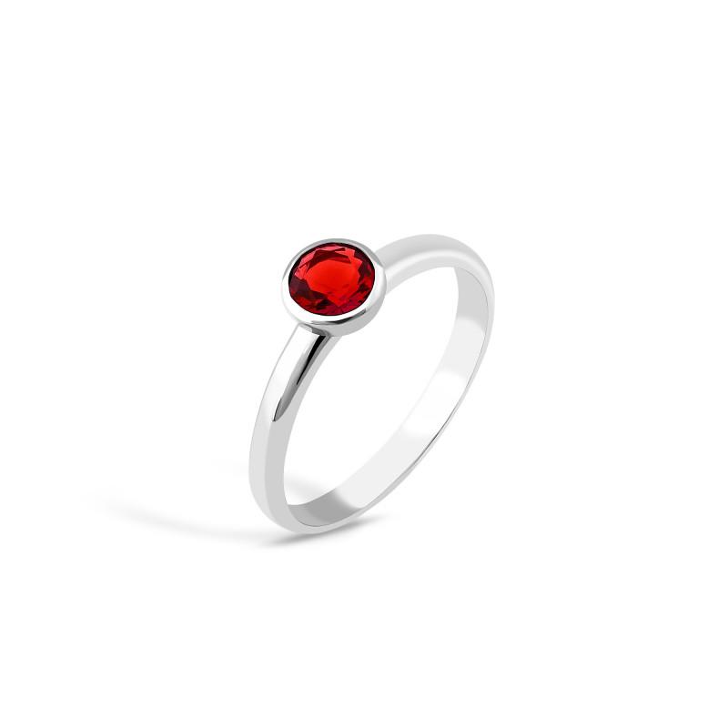 Кольцо с красным фианитом 833-1