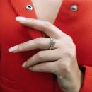 Кольцо с белым фианитом 408 2