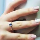 Кольцо с голубым альпинитом 730 2