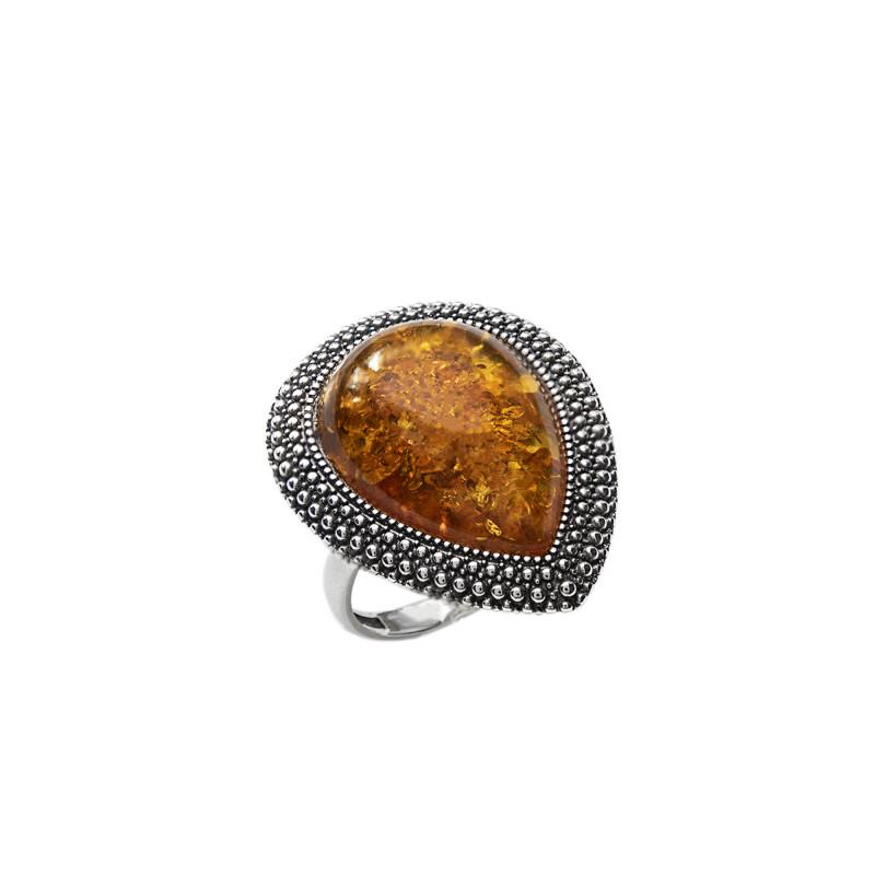 Кольцо с янтарем 805