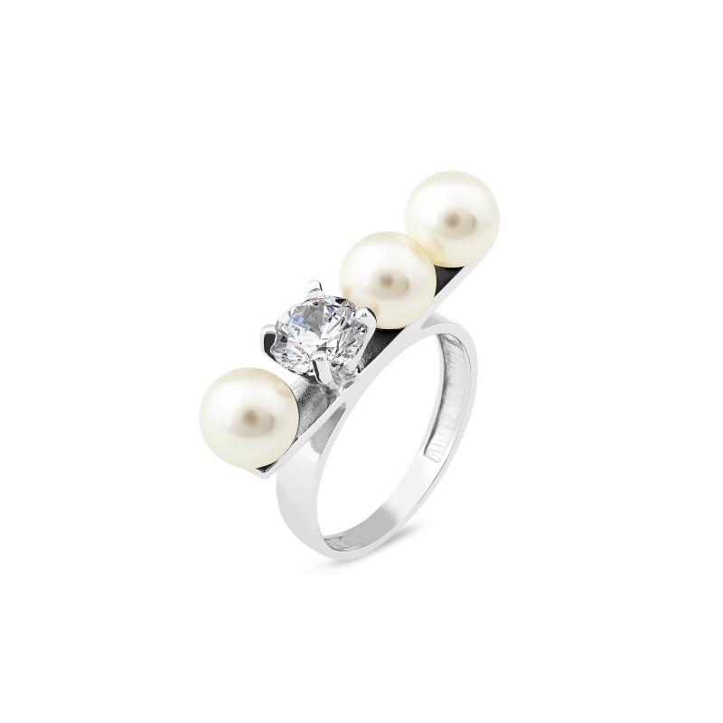 Кольцо с янтарем 905
